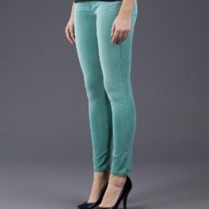 $198~Joe's Jeans~Colored Aqua Skinny Jeans~27